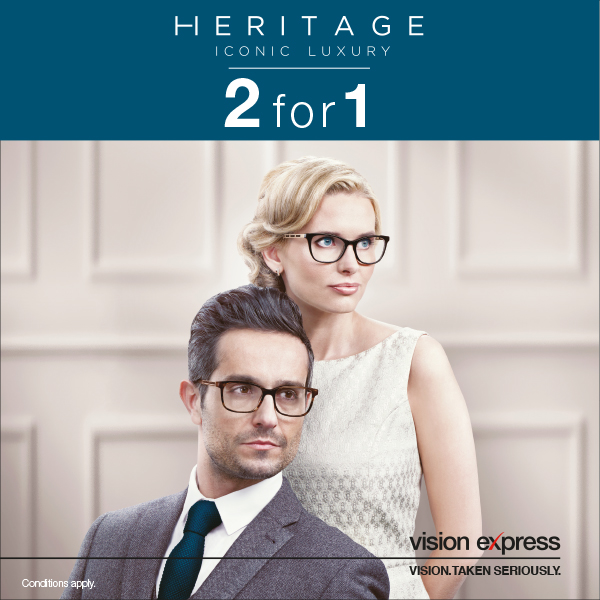Vision Express Heritage 2 for 1